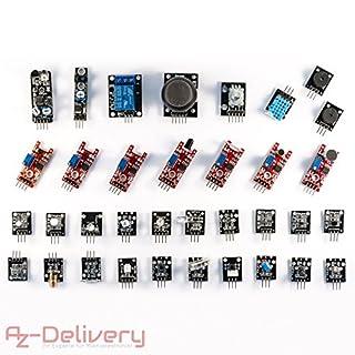 AZDelivery ⭐⭐⭐⭐⭐ 35 in 1 Arduino Sensorenki Modulkit und Zubehörkit für Arduino und andere Mikrocontroller mit gratis eBook!