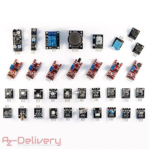 AZDelivery 35 in 1 Arduino-Sensoren- und Zubehörkit für Arduino und andere Mikrocontroller
