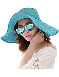 Grsafety Summer Beach Hats Women Big Bowknot Cappello di paglia Piumino  largo a tesa larga Cappuccio 08d2e14ee1fa