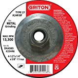 Griton DA4585 Type 27 Grinding Wheel Use...