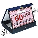 Targa premio compleanno sonora 60 anni amica