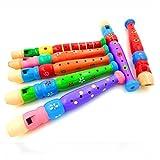 VWH Pädagogisches Spielzeug Geschenk für Kinder Bunte hölzerne Trompete Buglet