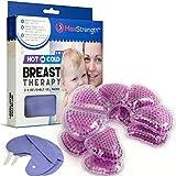 Max Strength Pro Breastcare 2 x Thermopads, 2 xBezüge, Gel-Stilleinlagen, 3-in-1,kalte/warme Verwendung, verbesserte Milchproduktion und Linderung bei Schmerzen