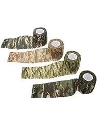 Anizun (TM) 5cmx4.5m 1rollo reutilizable exterior camuflaje cinta de caza Camping Ciclismo Wrap elástico táctico pistola de Stealth cinta