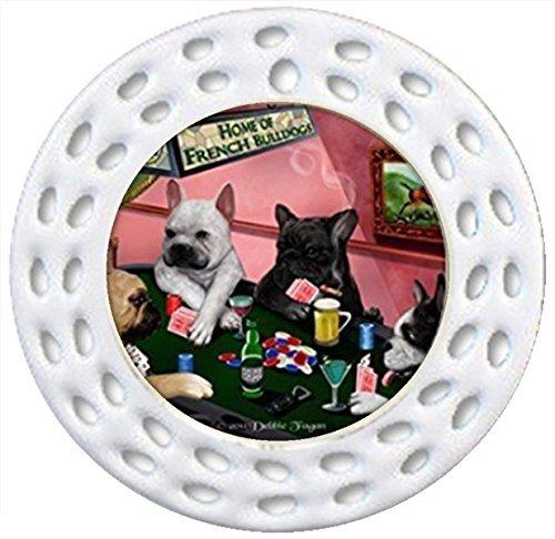 e Bulldoggen Christmas Holiday Christmas Ornaments Keramik Neuheit Funny Porzellan Hänger Weihnachten Weihnachtsbaumschmuck 4Hunde Spielen Poker (Personalisierte Braut Hanger)