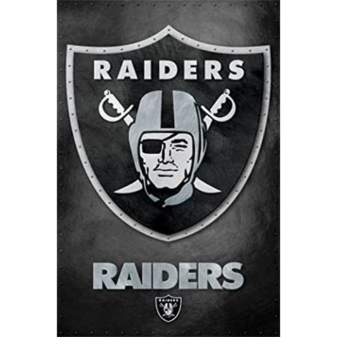 Oakland Raiders - Logo NFL Sports Poster by Trends International