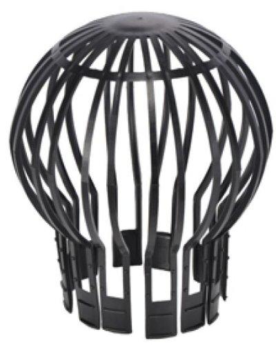 Preisvergleich Produktbild Fallrohrschutz 2er Dachrinnenschutz Verschlusskappe 11cm (2 Stück SET, Schwarz)