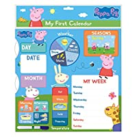 Danilo Peppa Pig My First Activity Calendar Educational Toy Special Edition - Teach Your Child Days Months Weather and Seasons - Starts Any Date - With Wall Hanging Hook
