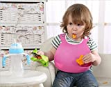 #3: newest durable using custom size and design food grade TPE large baby bibs buy 1 get 1 free-Luvina