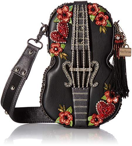 Mary Frances Damen Heart Strings Embellished Violin Handbag Verzierte Geigen-Handtasche, Design: Herzen & Saiten, Multi, Einheitsgröße