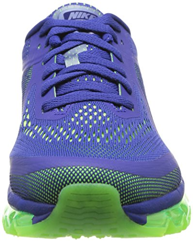 Nike Air Max 2014, Chaussures de running homme Bleu (Deep Royal Blue/Electric Green-Volt-Black 402)