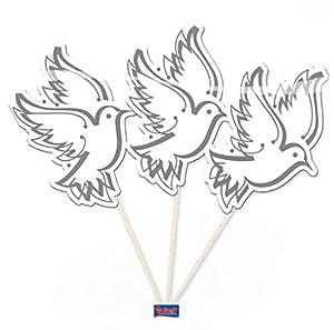 """Parte Selector""""White Doves"""" Paquete de 10er"""