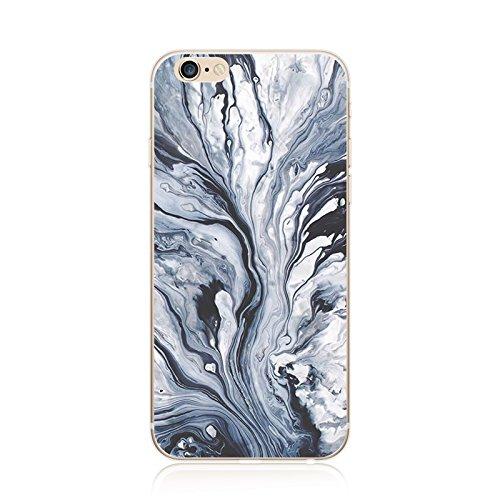 Coque iPhone 7 Housse étui-Case Transparent Liquid Crystal marbre en TPU Silicone Clair,Protection Ultra Mince Premium,Coque Prime pour iPhone 7 (2016)-style 13 iphone5-10