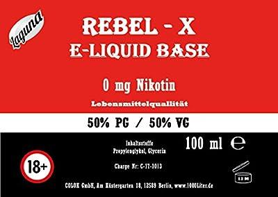 """E Liquid Base 100ml 50 PG/50 VG Laguna """" REBEL X """" PUR Vape OHNE Nikotin 0 100 ml von Colok GmbH"""
