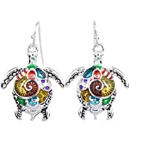 valoxin (TM) ms1504180 Fashion Jewelry Hight Quality collana e orecchini per le donne Orecchini placcati argento tartaruga di mare Design unico partito regali, Earrings