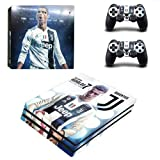 CIVIQ Juventus Cristiano Ronaldo PS4 Pro Skin Sticker Decal for Sony Playstation 4 Console and 2 Controller PS4 Pro Skin Sticker Vinyl