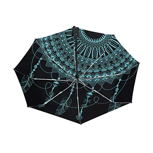 FANTAZIO - Paraguas de Viaje, Color Azul atrapasueños