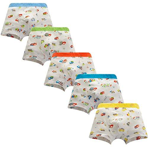 JT-Amigo 5er Pack Kinder Jungen Boxershorts Unterhosen Auto Motive, Gr. 92-98, Farbe 3