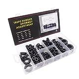 180 pezzi Gomma Assortimento Kit di Gommini Passacavo Gommino Elettrico Conduttore set di Anelli di Guarnizione per Cavi, Spina e Cavo