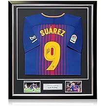 exclusivememorabilia.com Camiseta de Fútbol Barcelona 2017-18 firmada por  Luis Suárez. En 443f590288338