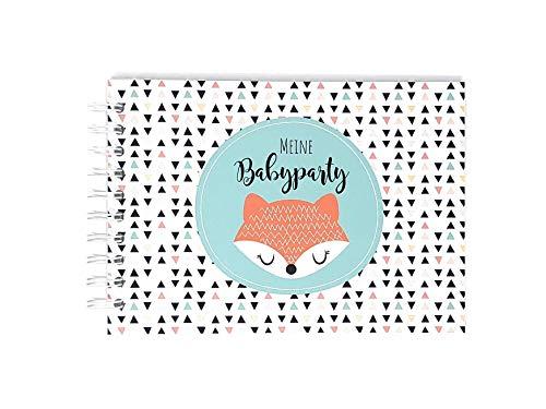 Gästebuch zur Babyparty, Erinnerungsalbum Babyshower, Geschenk Babyparty, Geschenk Schwangerschaft, Spiel Baby Shower (Baby-party-spiele)