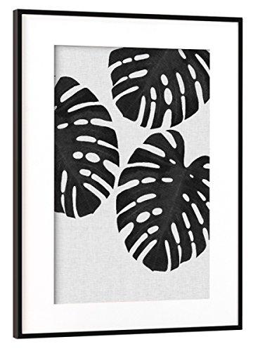 artboxONE Poster mit Rahmen Schwarz (Metallic) 45x30 cm