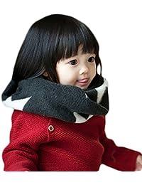 Butterme filles enfants bébé hiver chaud tricot silencieux écharpe foulard - Grand cadeau pour Noël