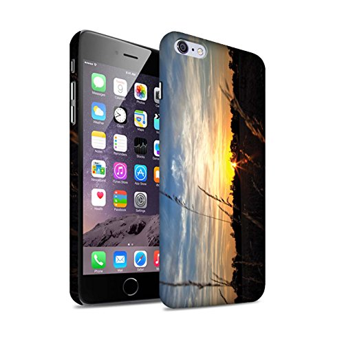 STUFF4 Matte Snap-On Hülle / Case für Apple iPhone 7 Plus / Strand Muster / Sonnenuntergang Kollektion Baumgrenze