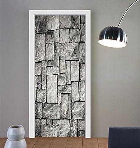 Wmshpeds Stéréo 3D coller porte porte de chambre à coucher Chambre creative stickers décoratif mural autocollants