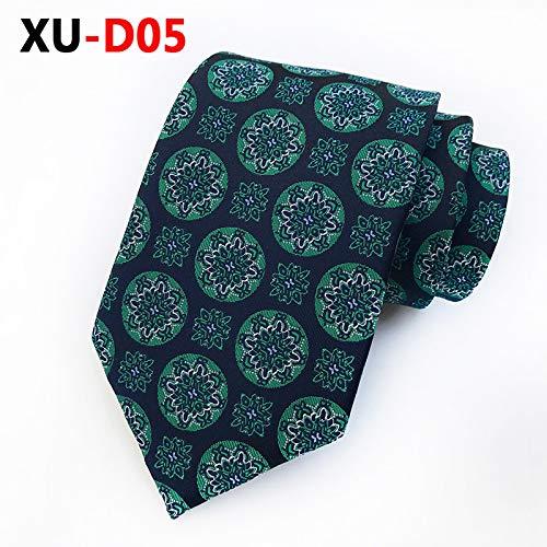 LLTYTE Krawatte Bowtie Seide Fuji Blumenmuster Marineblau Krawatte für Hochzeitsfeier Freund Geschenke Formal Business Casual Krawatte Party Krawatte