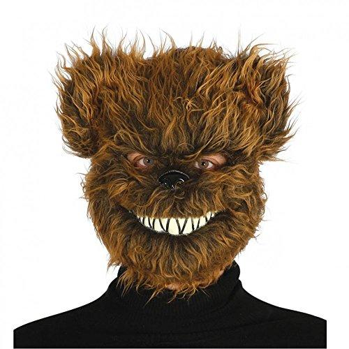 62 - Maske böser Bär mit Haaren (Bär Plüsch Maske)