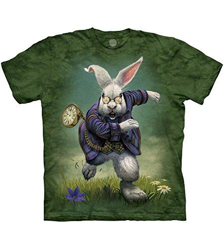 The Mountain White Rabbit Erwachsenen-T-Shirt, Größe L, Grün -