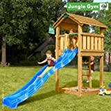 Jungle Gym Spielturm COTTAGE mit Rutsche - Blau