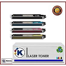 Konver K-729 Pack Ahorro 4 Colores toner compatible Serie K-729A Sustituye Canon® 729 - BK+C+M+Y - Para Impresoras Canon I-Sensys LBP-7010c, LBP-7018c
