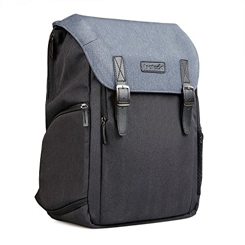 Inateck Dual Layer Camera Backpack with Laptop Compartment , Accessory Storage Room, Rain Cover , Adjustable Lens Compartment for SLR and DSLR Cameras