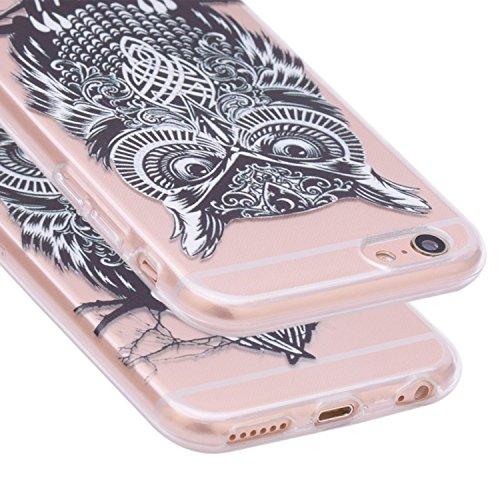 iPhone 7 Case, Per Apple iPhone 7 Cover Silicone, Asnlove Custodia Crystal Case 3D Flessible TPU Silicone Lucida Trasparente Bumper Gomma Caso Stilosa Custodia di Design in Morbido TPU Clear Back Shel Color23