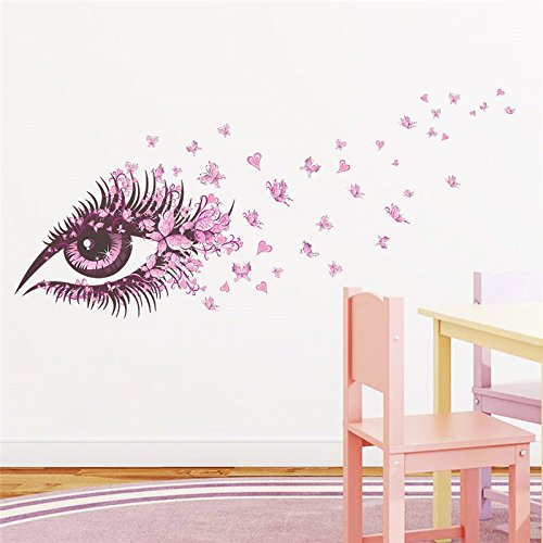 Wandaufkleber,sexy mädchen augen schmetterling wandaufkleber wohnzimmer schlafzimmer dekoration diy abziehbilder poster mädchen raumdekor 65 * 135 cm