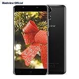 Smartphone in Offerta, Blackview P2 Lite 4G Android 7.0 Dual SIM Telefoni Cellulari, 5.5 pollici FHD schermo, 3GB RAM + 32GB ROM, fotocamera 13MP, batteria 6000mAh, Fingerprint, nero