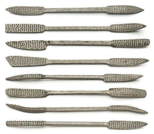KopSho Speckstein Werkzeugset Raspel 8 Teile 20cm
