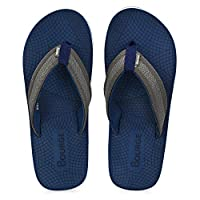 Bourge Men's Canton-55 Navy and Grey Slippers-9 UK (43 EU) (10 US) (Canton-55-09)