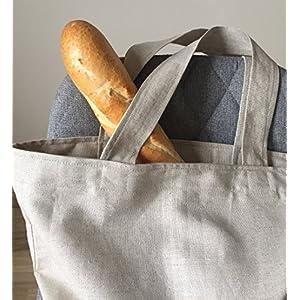 Leinen Tote Tasche für Erwachsene Minimalistischer Stil Markttasche Große Einkaufstasche einfaches Design Eko freundlich Shopper