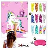 Howaf Jeux pour fête Licorne, Pin The Horn, fête Enfant, idée Cadeau, Piñatas, Kits de fêtes, Anniversaire Licorne Fille