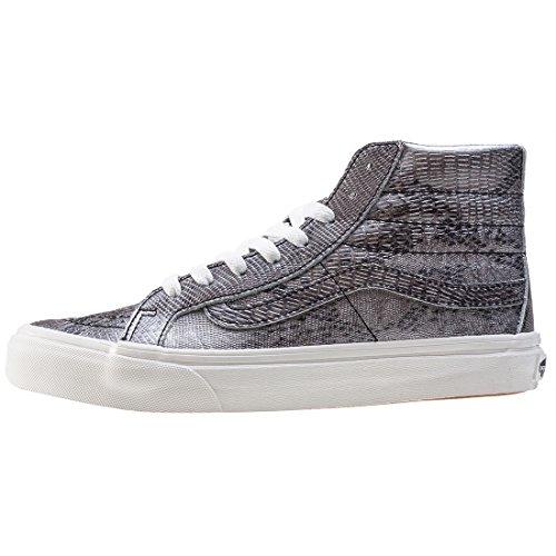 Vans Unisex-Erwachsene Sk8-Hi Slim Hohe Sneakers Schwarz/Blanc De Blanc