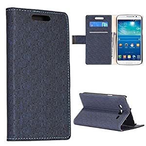Bracevor Maze Pattern Wallet Stand Leather Case for Samsung Galaxy Grand 2 (Black)