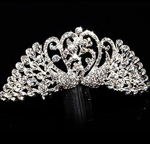 Bride coiffure diamant couronne costume argent accessoires cheveux accessoires de