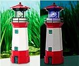 Solarleuchte Solar Leuchtturm rot 14858