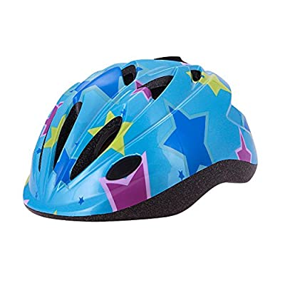 YGJT Blue Star Children's Bicycle Helmet for Boys and Girls Size 50-56cm