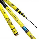 DIAOYUJUT Portable Carbon Fiber Telescope Fishing Rod Travel Spinning Fishing Pole, 3.0 m