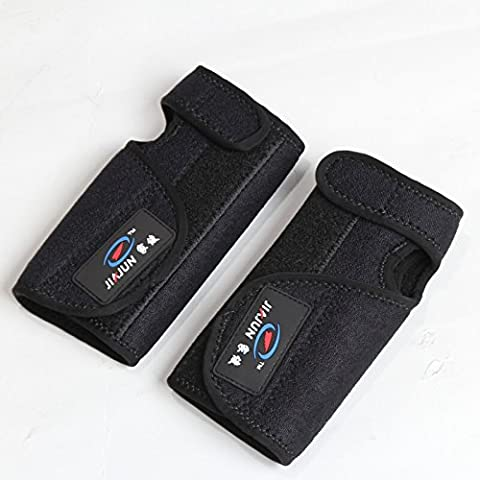 Alta elasticidad Wrister Wristguard Wrist Wrap Apoyo Vendaje Brace Guardia Lesiones Dolor Deportes almohadilla protectora gear-pack de 2