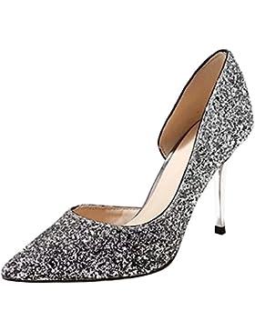 Jamron Donne Classy Luccichio Paillettes Scarpe da Sposa Elegante Punta Piatto / Stiletto Pompe Scarpe da Sera